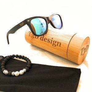 Other - Wooden Sunglasses - Bamboo - Wayfarer - Black